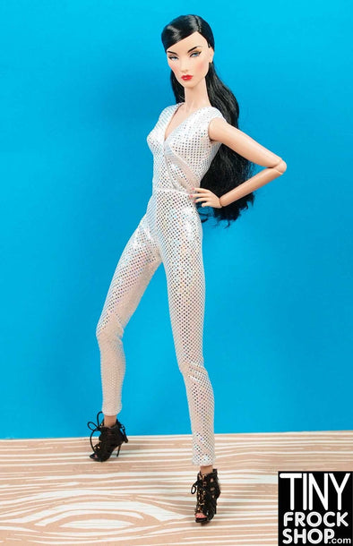 Barbie Avastars Silver Foil Dot Slim Jumpsuit - Tiny Frock Shop