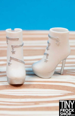 Barbie Avastars White Star Zip Boots