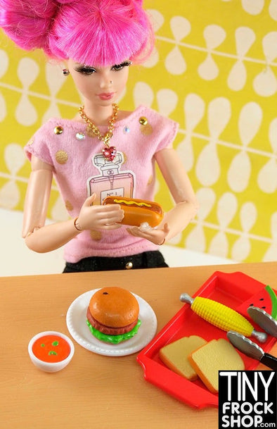 Barbie Grillin Food Set - New - TinyFrockShop.com