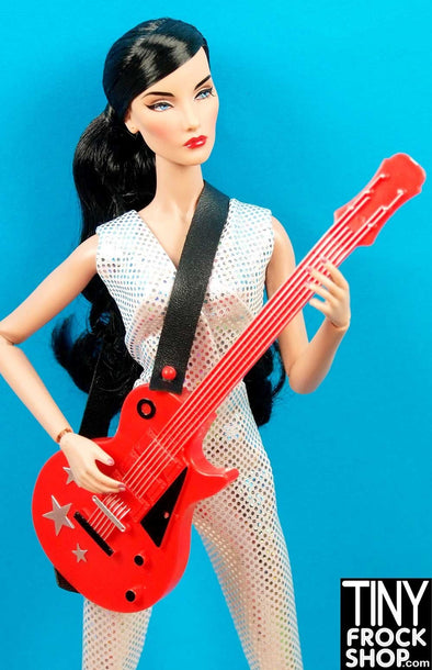Ken or Barbie Avastars Red Star Guitar with Strap