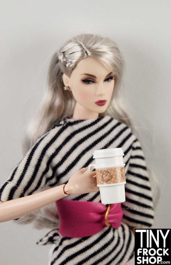Barbie FKR92 To Go Coffee Cup With Handle