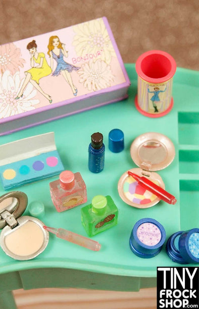 Barbie Re-Ment 12 Piece Bonjour Beauty Cosmetic Set - TinyFrockShop.com