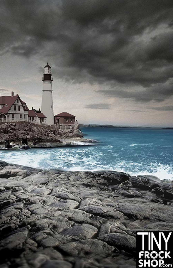Barbie Photography Backdrop - Wide - Rocky Lighthouse CM-0165
