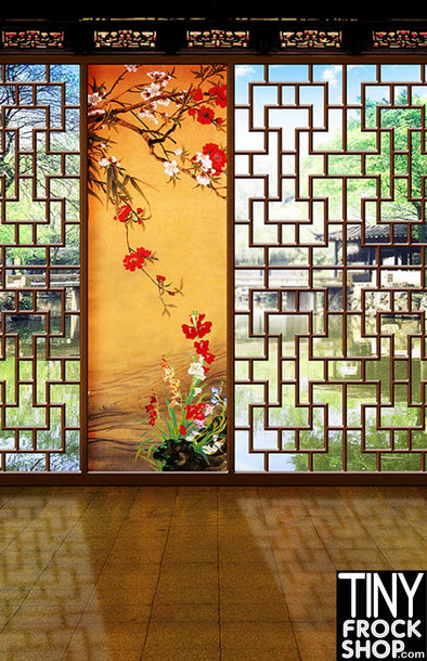 Barbie Photography Backdrop - Wide - Chinese Doorway CM-0990