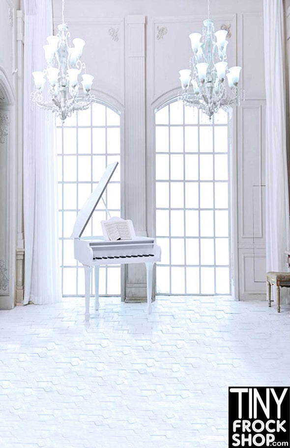 CM-4188 Barbie Photography Backdrop - Wide - Glamorous Piano Room - TinyFrockShop.com