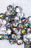 5MM - Barbie Czech Glass Mini Round Buttons - Set of 6! - 6 COLORS!