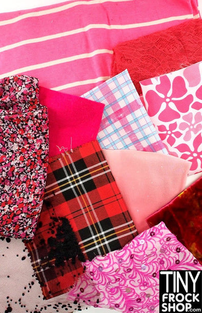 Barbie Fabric Pack Assortment - Reds and Pinks
