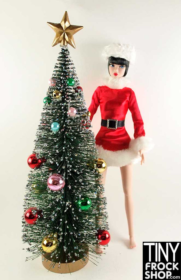 "Barbie Glitter Bottle Brush Tree 13"" Tall - TinyFrockShop.com"
