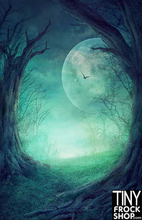 Barbie Photography Backdrop - Wide - Spooky Moon HA-234