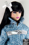 Integrity Chiller Thriller Poppy Parker Silver Bow And Pin Trim - TinyFrockShop.com