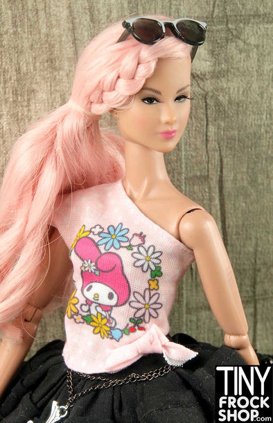 Barbie FLP43 My Melody Asymmetrical Graphic Tee
