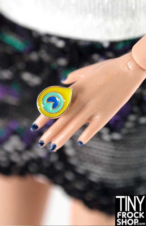 Integrity Nu Face Violanie Beyond This Planet Enamel 3 Color Ring - TinyFrockShop.com