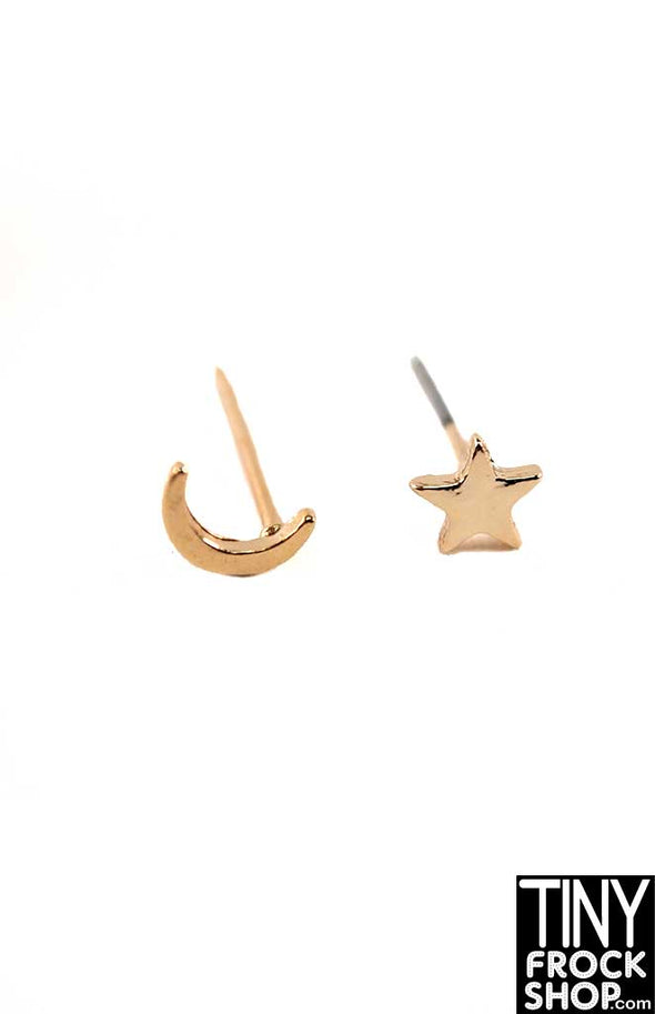 Integrity Nu Face Violanie Beyond This Planet Moon And Star Stud Earrings - TinyFrockShop.com