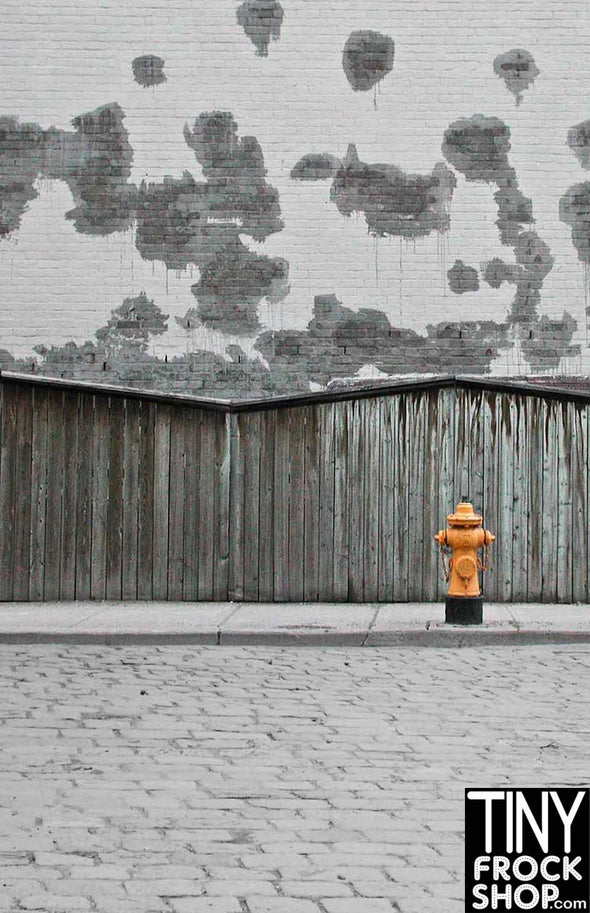 S-1838 Barbie Photography Backdrop - Wide - Hydrant
