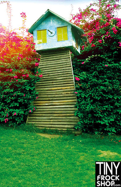 Barbie Photography Backdrop - Wide - Tree House S-282