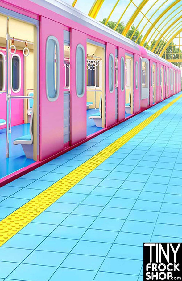 Barbie Photography Backdrop - Wide - Cutie Japan Train S-3240