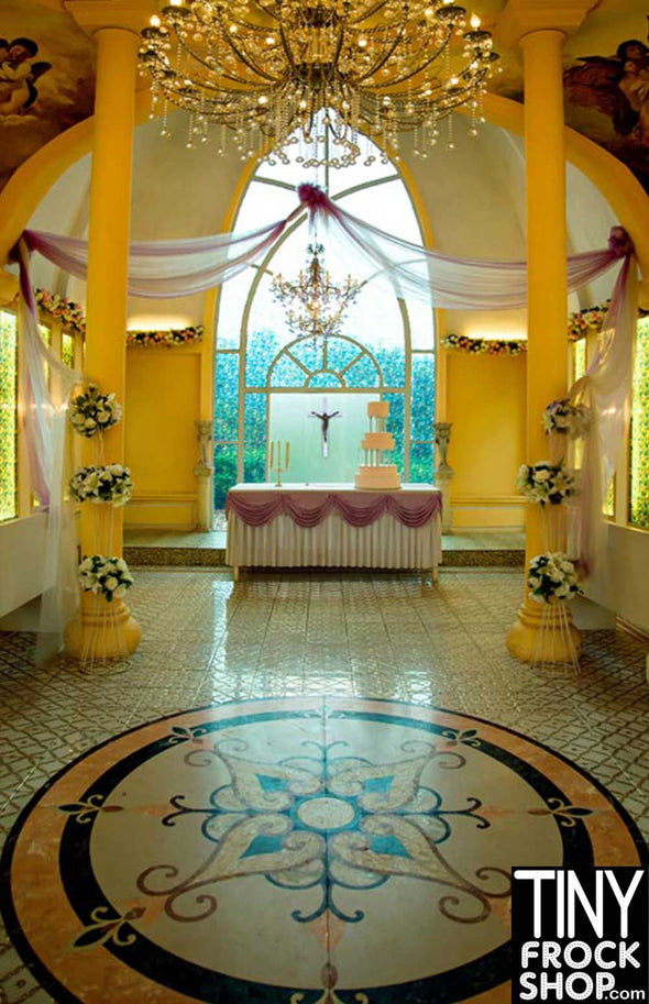 Barbie Photography Background - Dainty Chapel S-829