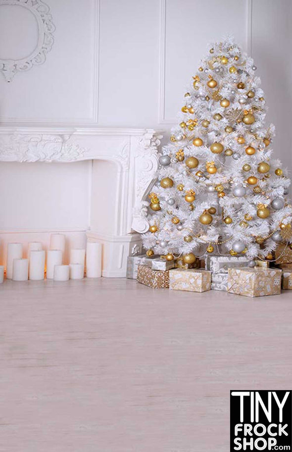 ST-578 Barbie Photography Background - Standard - Golden Christmas