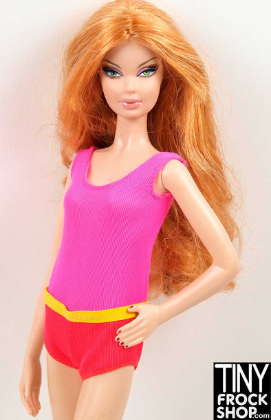 Barbie Vintage Malibu Francie Colorblock Swimsuit
