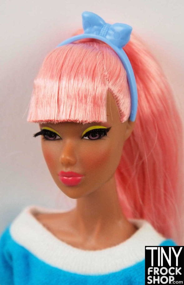 Barbie Blue Bow Headband - TinyFrockShop.com