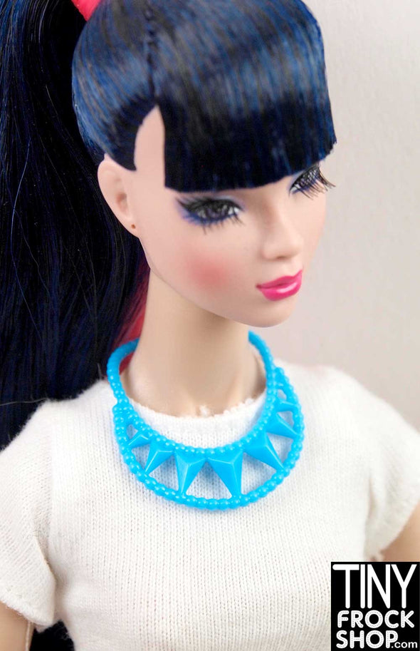 Barbie Blue Triangle Necklace - TinyFrockShop.com