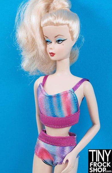 Barbie Blurry Striped Tankini - Tiny Frock Shop