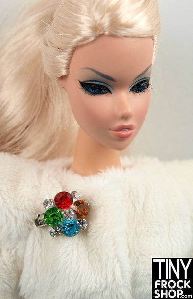 Barbie Bouquet Mini Rhinestone Pin - TinyFrockShop.com