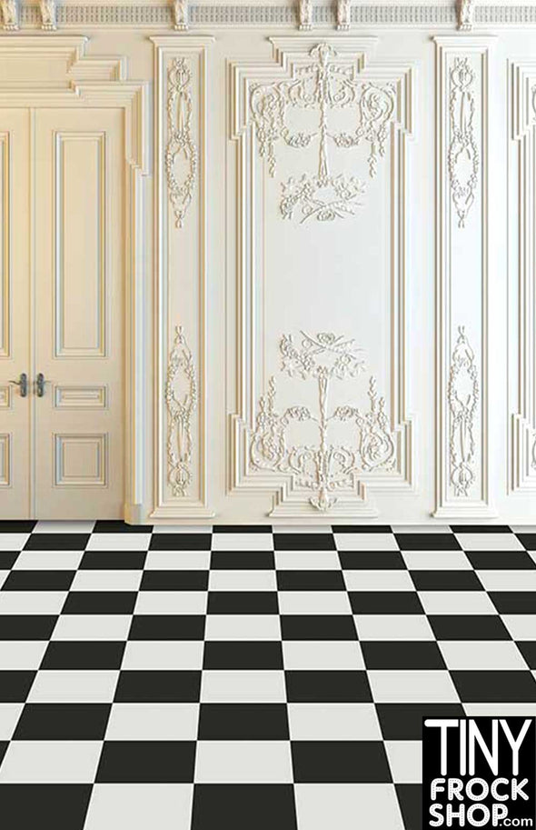 Barbie Photography Background - Standard - Checkerboard Elegance CM-6978