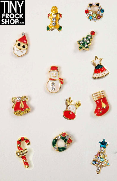Barbie Christmas Magnetic Brooches by Pam Maness for TFS - TinyFrockShop.com