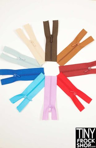 Barbie High Quality TINY Close Ended Nylon Doll Zippers - Size 0 - MORE COLORS!