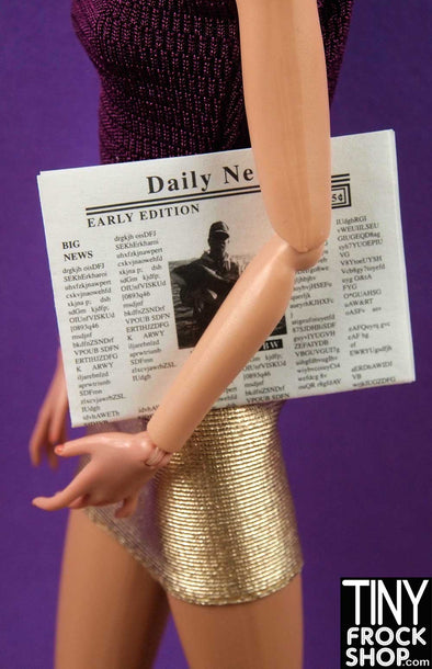 Barbie Daily Newspaper - Tiny Frock Shop