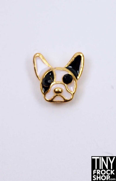 Barbie French Bulldog Magnetic Brooch by Pam Maness - TinyFrockShop.com