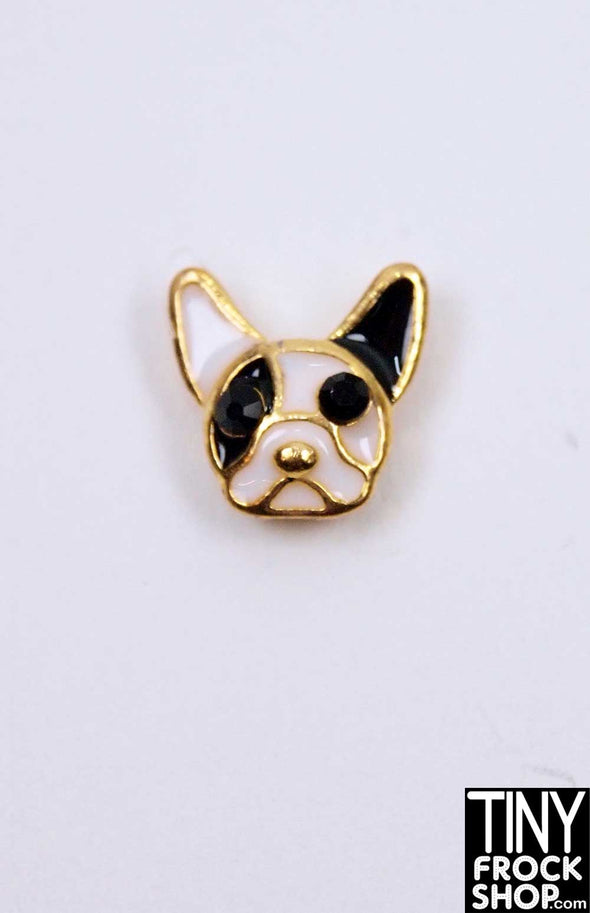 Barbie French Bulldog Magnetic Brooch by Pam Maness for TFS