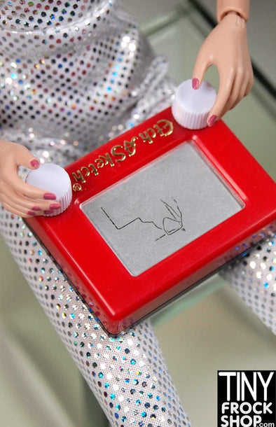 Barbie Worlds Smallest Mini Etch-A-Sketch! Knobs Really Work! - TinyFrockShop.com
