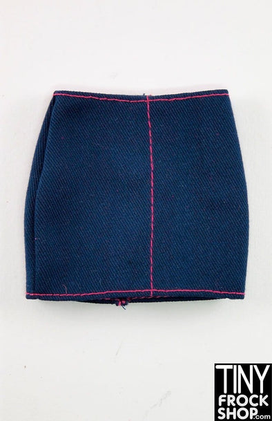 Barbie Faux Denim Curvy Skirt