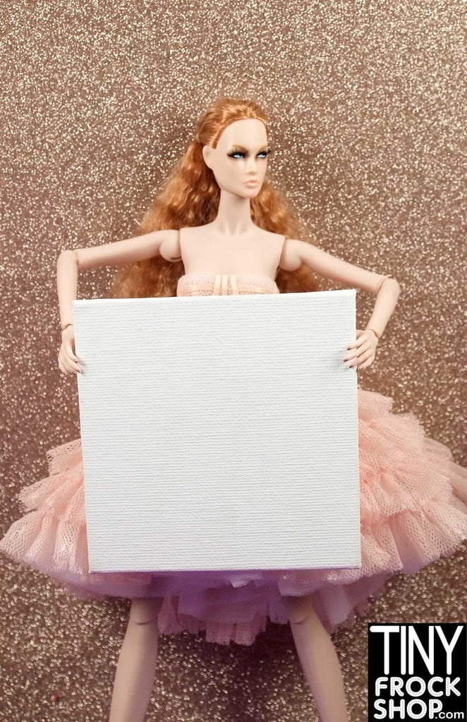 Barbie Blank Flat Art Canvases