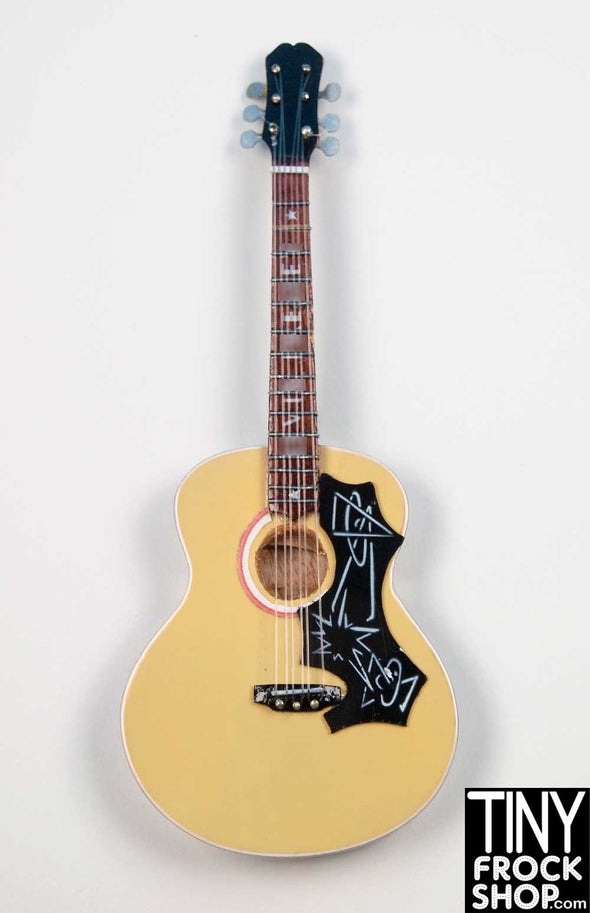 Barbie GM82 Light Wood Memphis Star Hand Crafted Acoustic Guitar - Tiny Frock Shop