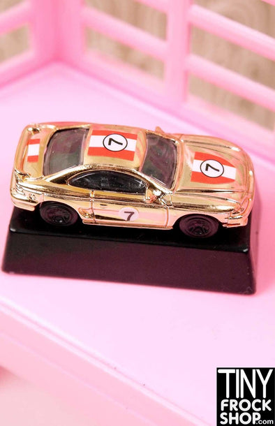 Barbie Ken Gold Race Car Statuette - TinyFrockShop.com