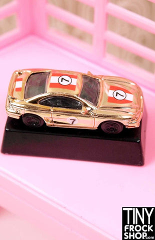 Barbie Ken Gold Race Car Statuette