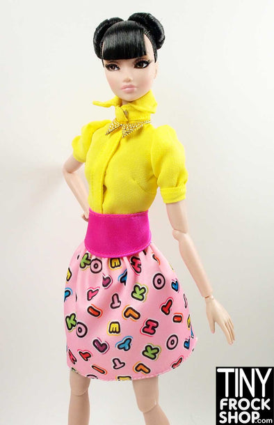 Barbie FRK68 Hello Kitty Letter Skirt - TinyFrockShop.com