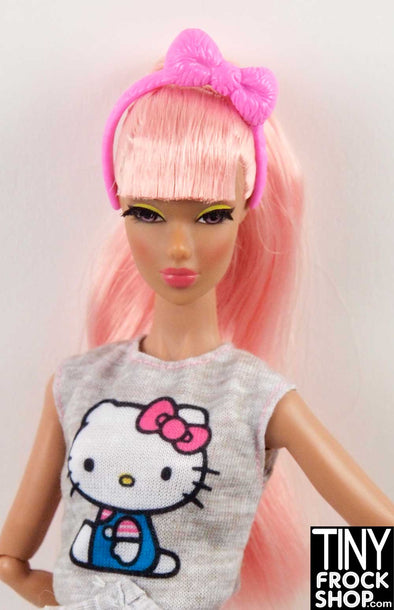 Barbie FRK68 Hello Kitty Pink Bow Headband - TinyFrockShop.com