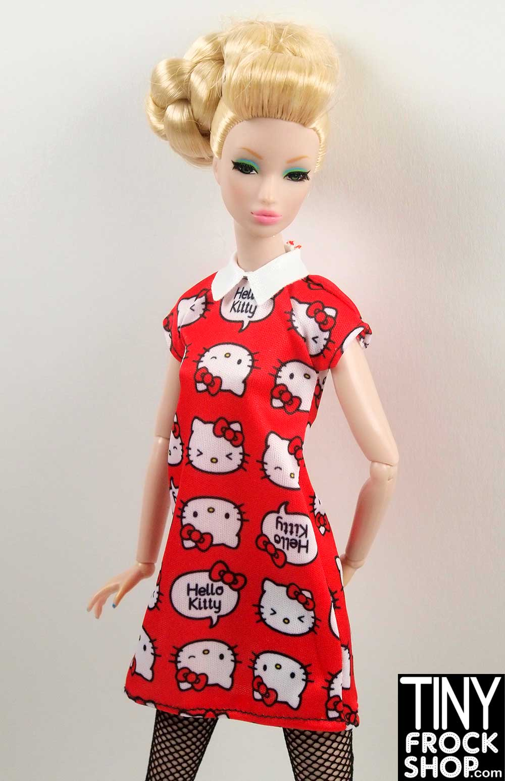 c1b9da32e Tiny Frock Shop Barbie FKR67 Hello Kitty Red Graphic Geek Chic Red Dress