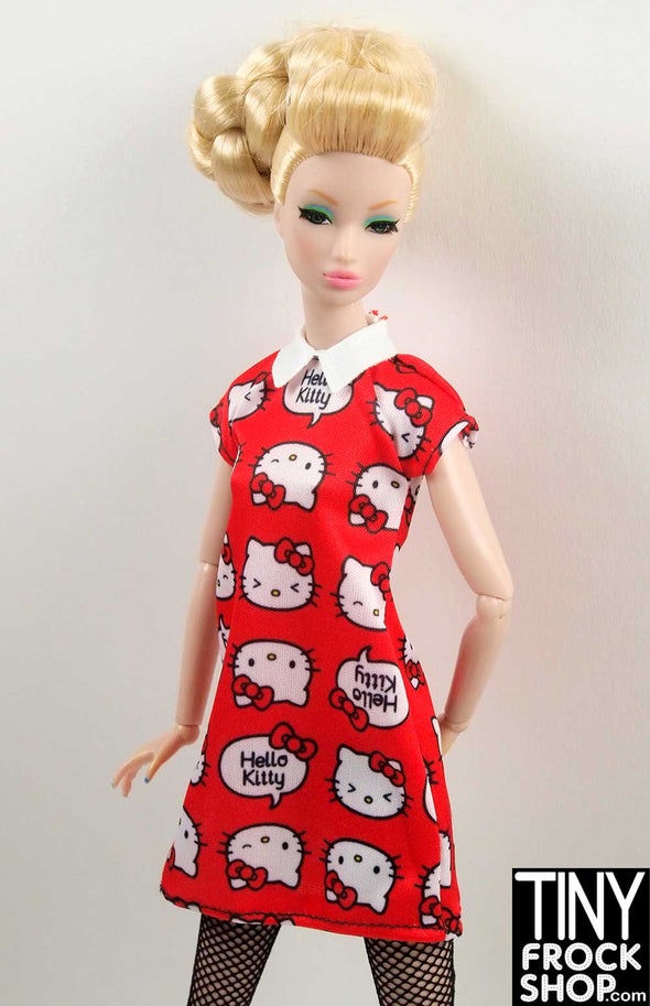 Barbie FKR67 Hello Kitty Red Graphic Geek Chic Red Dress - TinyFrockShop.com