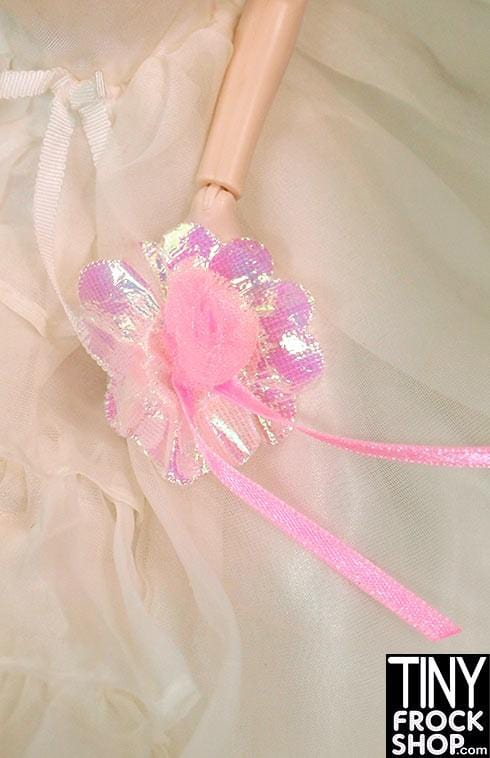 Barbie Iridescent Pink Flower Bouquet