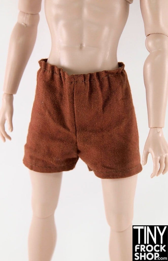 Ken Rust Brown Elastic Waist Short