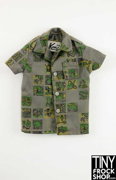 Ken Vintage #785 Green Collar Dreamboat Shirt