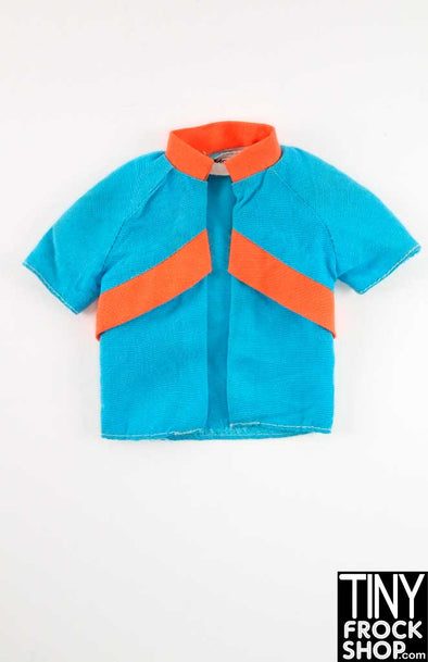Ken Vintage Blue And Orange Bowling Shirt