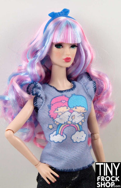 Barbie FLP46 Little Twin Stars Waffle Knit Graphic Tee