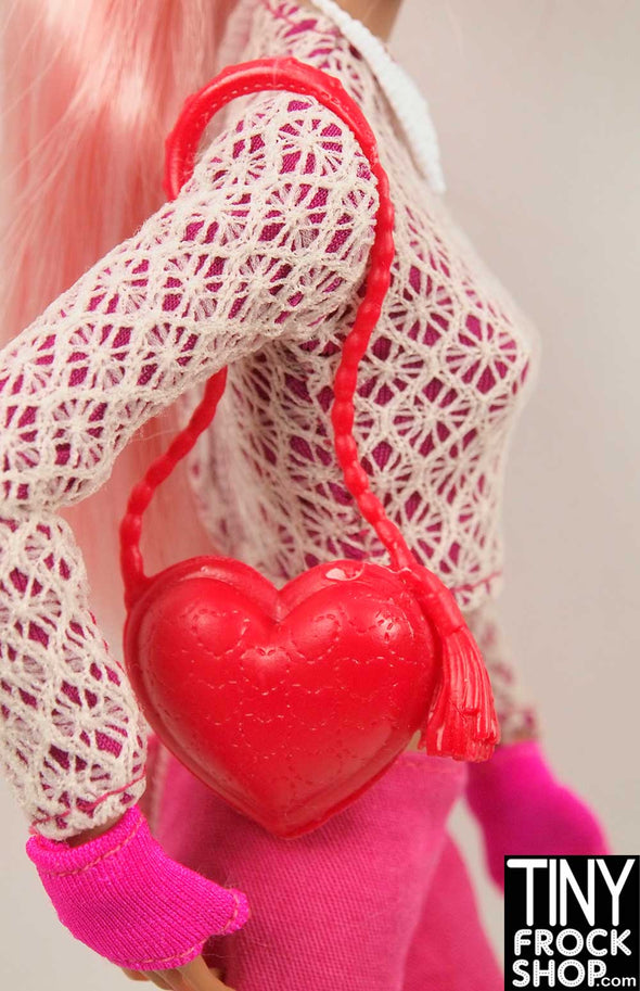 Barbie Long Strap Valentine's Heart Bag - TinyFrockShop.com