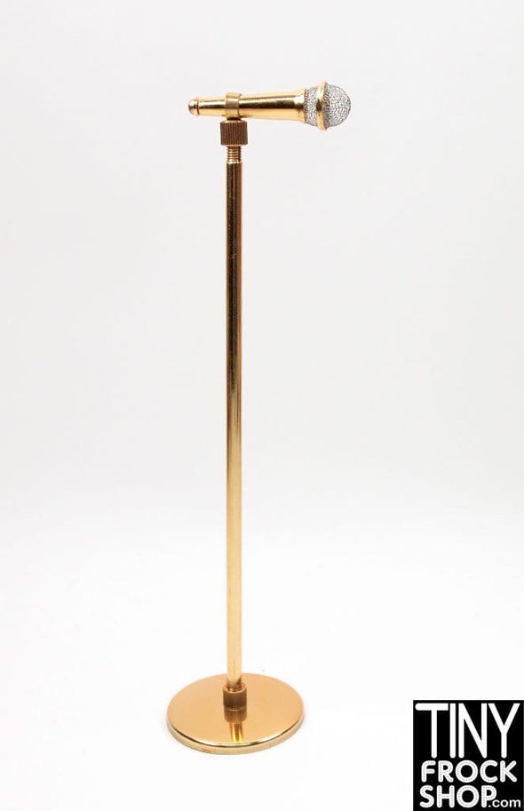 Barbie New High End Metal Extendable Height Microphone and Stand - TinyFrockShop.com